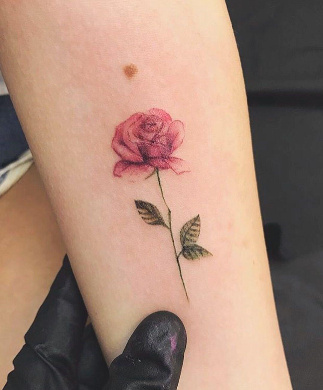 Beautiful 3d Flower Tattoo Beautytatoos Tiny Flower Tattoos