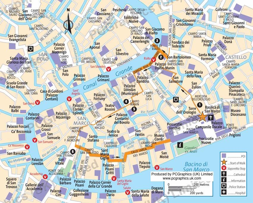 Castello Venice walk map produced by PCGraphics See more of our