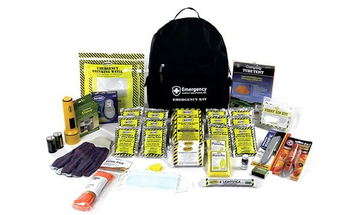 3-Day Emergency Backpack Kits for 2 or 4 People: 3-Day Emergency Backpack Kits for 2 or 4 People