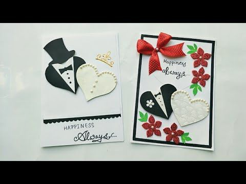 2 Simple And Cute Wedding Anniversary Card Ideas Handmade Wedding Anniversa Anniversary Cards Handmade Diy Wedding Anniversary Cards Homemade Anniversary Cards