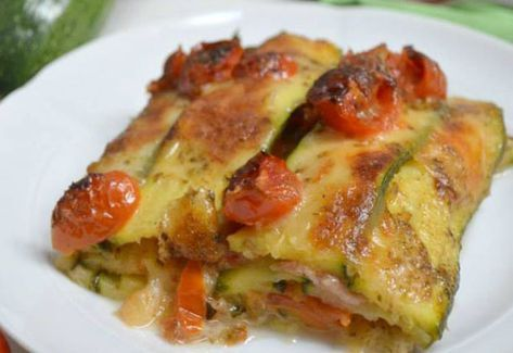 Photo of Zucchini Lasagna with Ham and Cherry Tomatoes WW