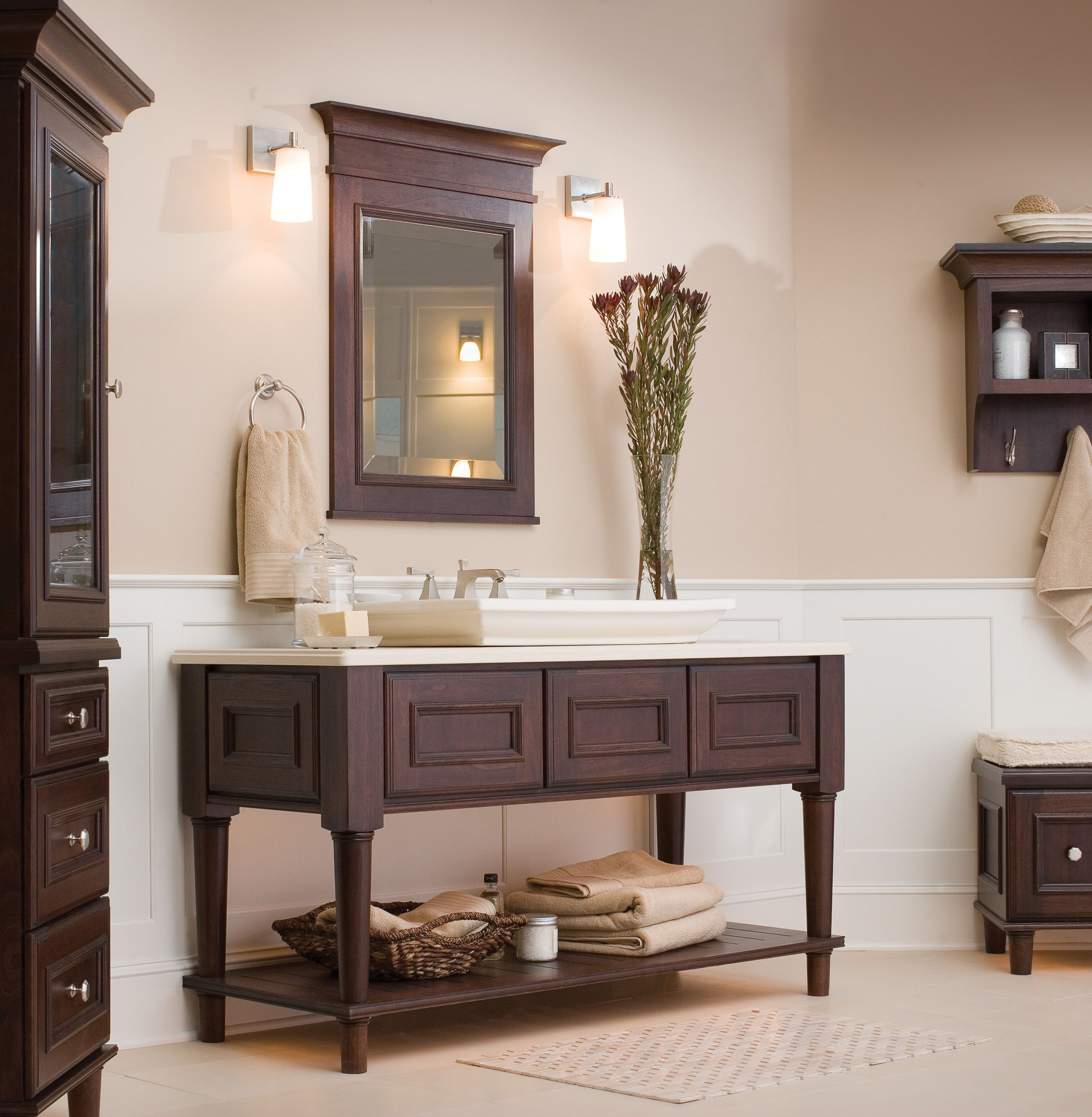 Dura Supreme Crestwood Cabinetry Shown With St Augustine Cabinet - Bathroom remodel st augustine