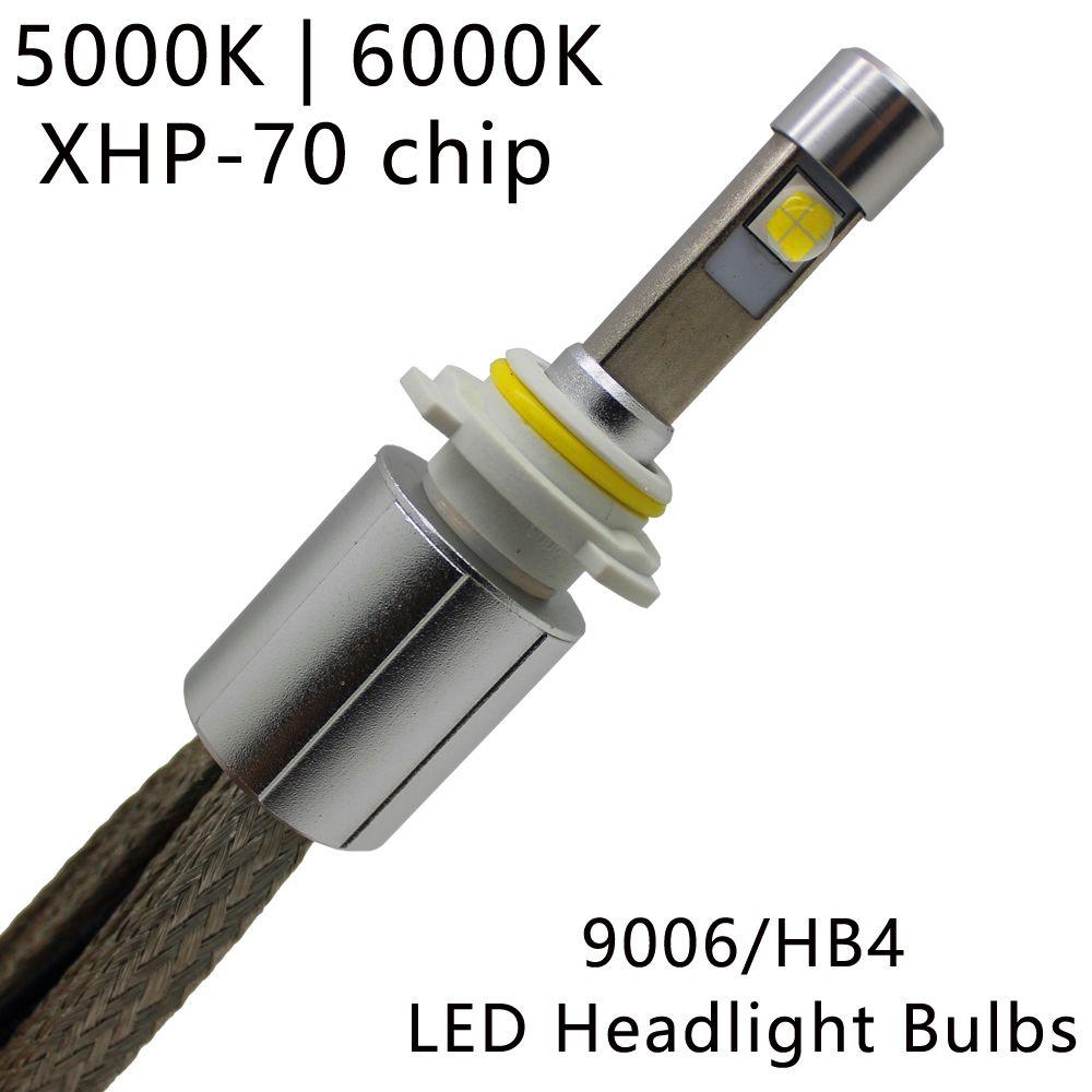 Get OCSION P70 9006 HB4 Headlight LED Car 12v Headlights 55w 6600LM 5000K 6000K Headlamp Auto Fog Light Kit H4 H7 H8 H9 H11 9005 HB3