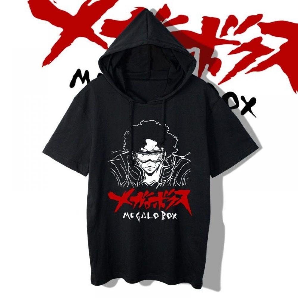 Megalo Box Short Sleeves Hoodies Shorts Nakama Store Short Sleeve Hoodie Hoodies Short Sleeves