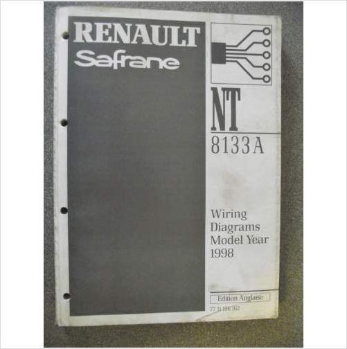 Renault Safrane Wiring Diagrams Manual 1998 Nt8133a