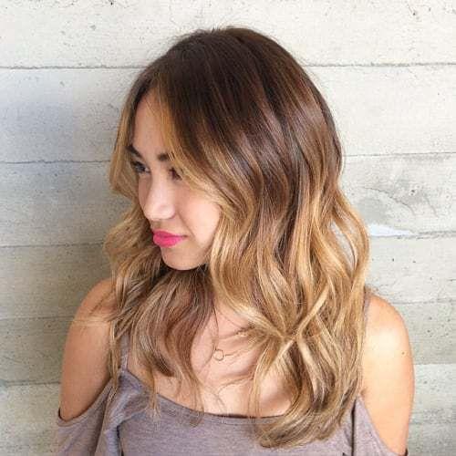 medium+brown+blonde+ombre+hair
