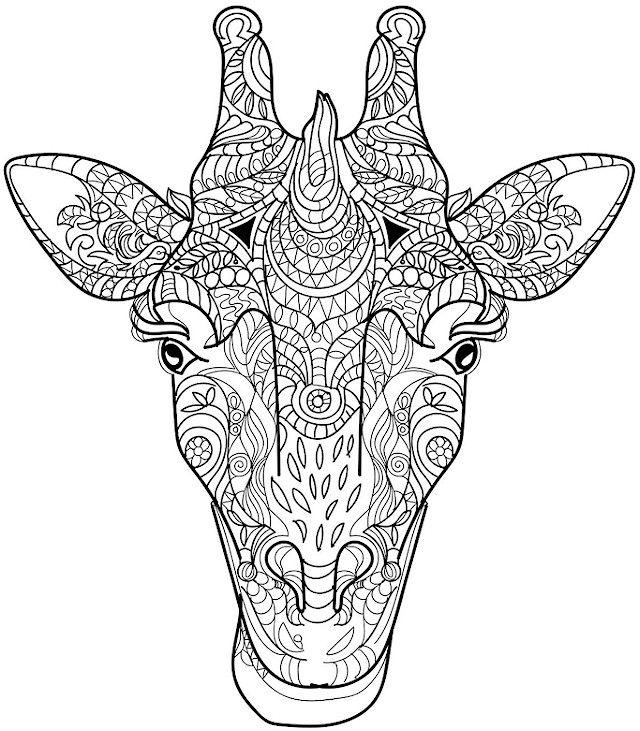 Animals 22 Advanced Coloring Page Giraffe Coloring Pages Animal Coloring Books Mandala Coloring Pages