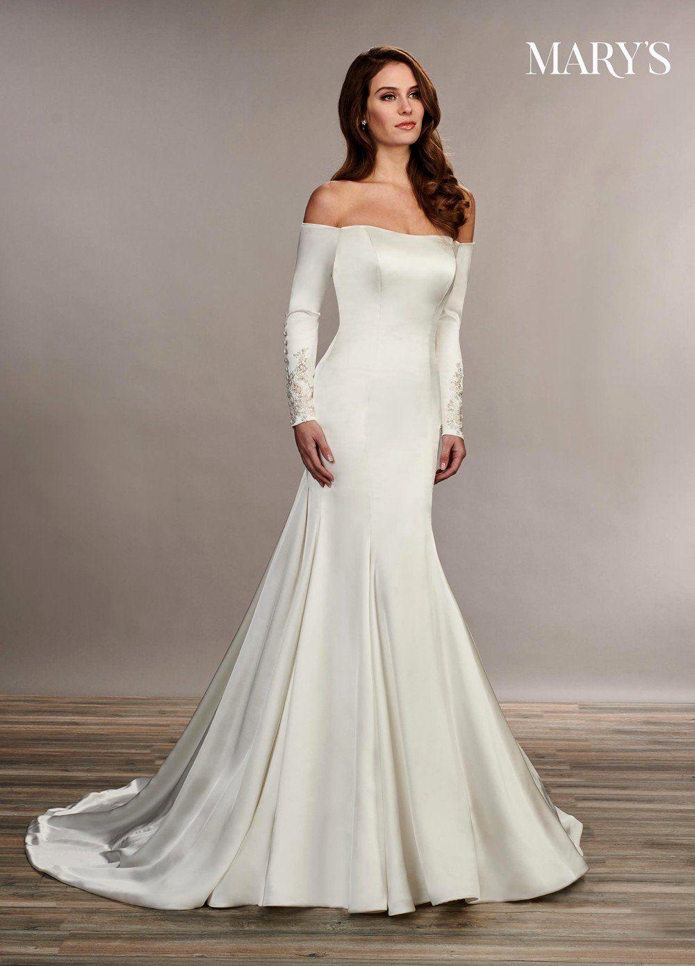 Simple Satin Wedding Dress Awesome Marys Bridal Mb3072 Long Sleeve Wedding Gown Trumpet Bridal Gown Bridal Dresses Long Sleeve Wedding Gowns