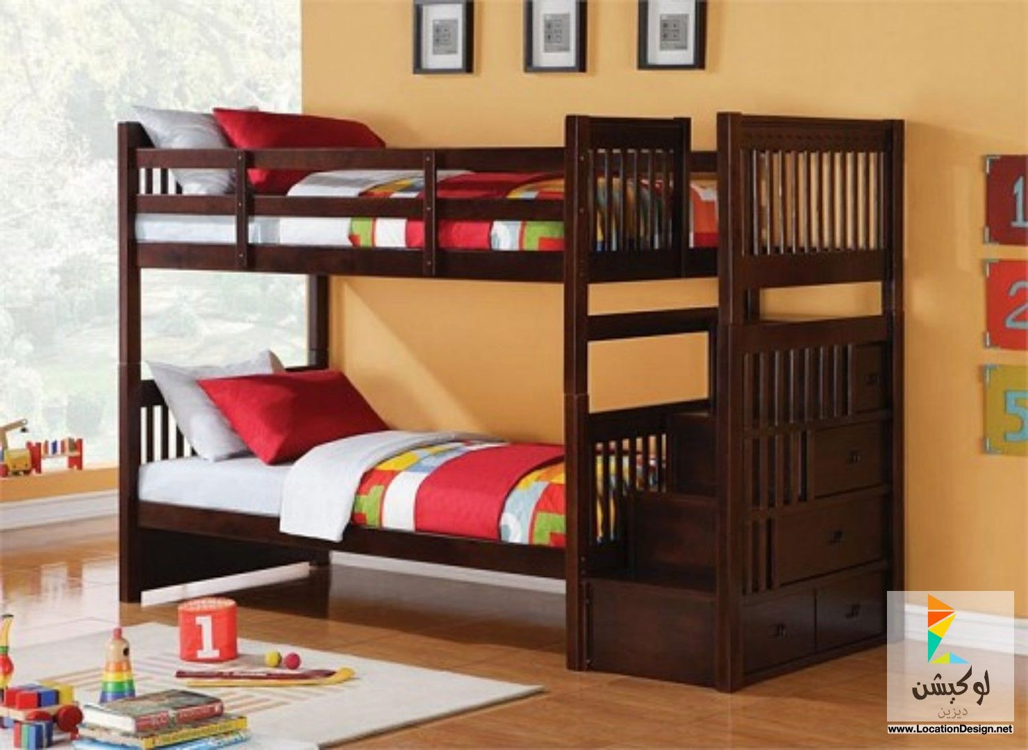 غرف نوم اطفال دورين 2015 Cool Bunk Beds Bunk Bed Steps Bunk Bed Designs