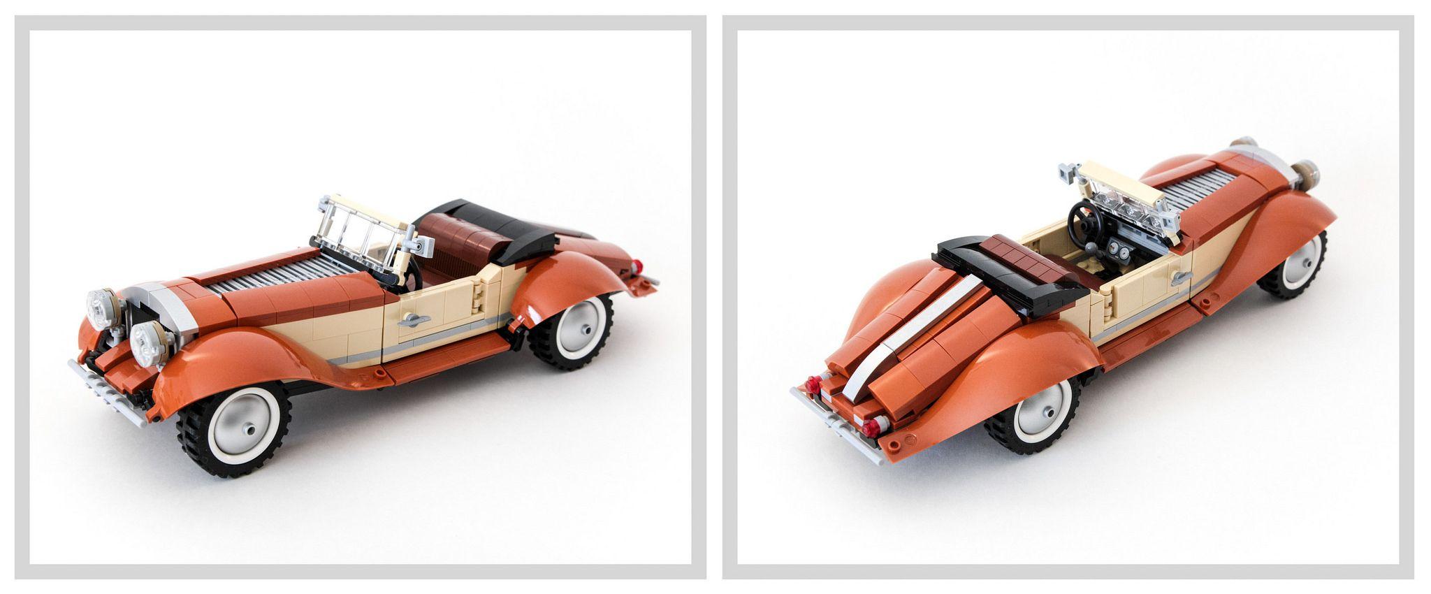 Vintage Roadster Cream tea, Caterham seven, Lego