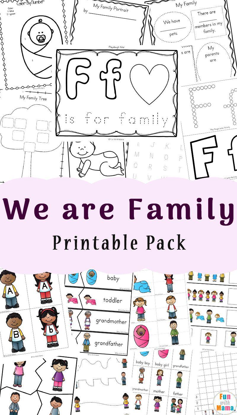 Family Worksheets For Kindergarten In 2020 Family Worksheet Kindergarten Worksheets Free Kindergarten Worksheets [ 1400 x 800 Pixel ]