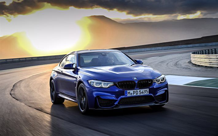 BMW M4 CS, 2018, New M4, Blue BMW, Sports Car, Black