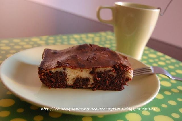 COMO AGUA PARA CHOCOLATE: BROWNIE DE CHOCOLATE Y QUESO