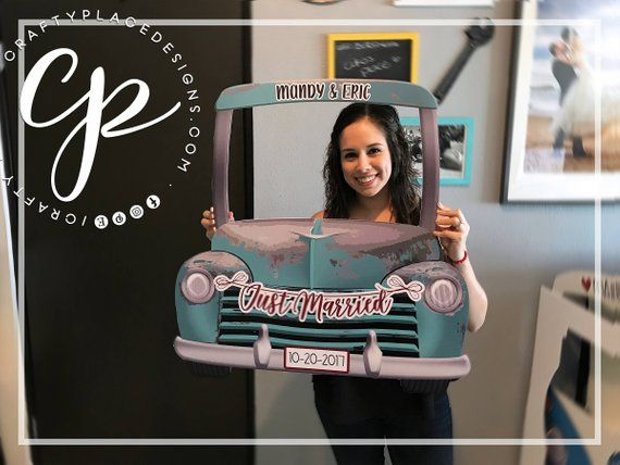 Taxi photo booth frame  New York Taxi photo booth prop  Car | Etsy