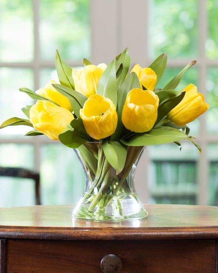 Silk Tulip Nosegay Spring Of Yellow Flowers Tulips Flower