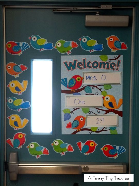 A Teeny Tiny Teacher An adorable Welcome door featuring Carson-Dellosa Boho Birds & A Teeny Tiny Teacher: An adorable Welcome door featuring Carson ... pezcame.com