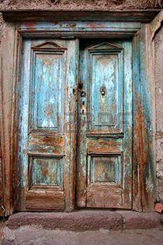 portes anciennes: Antique ancienne détruite porte bleue | images ...