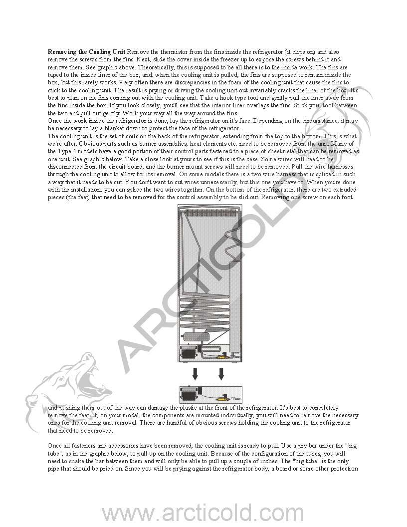 Page 2 Type 4 Install Instructions For Dometic New Style No