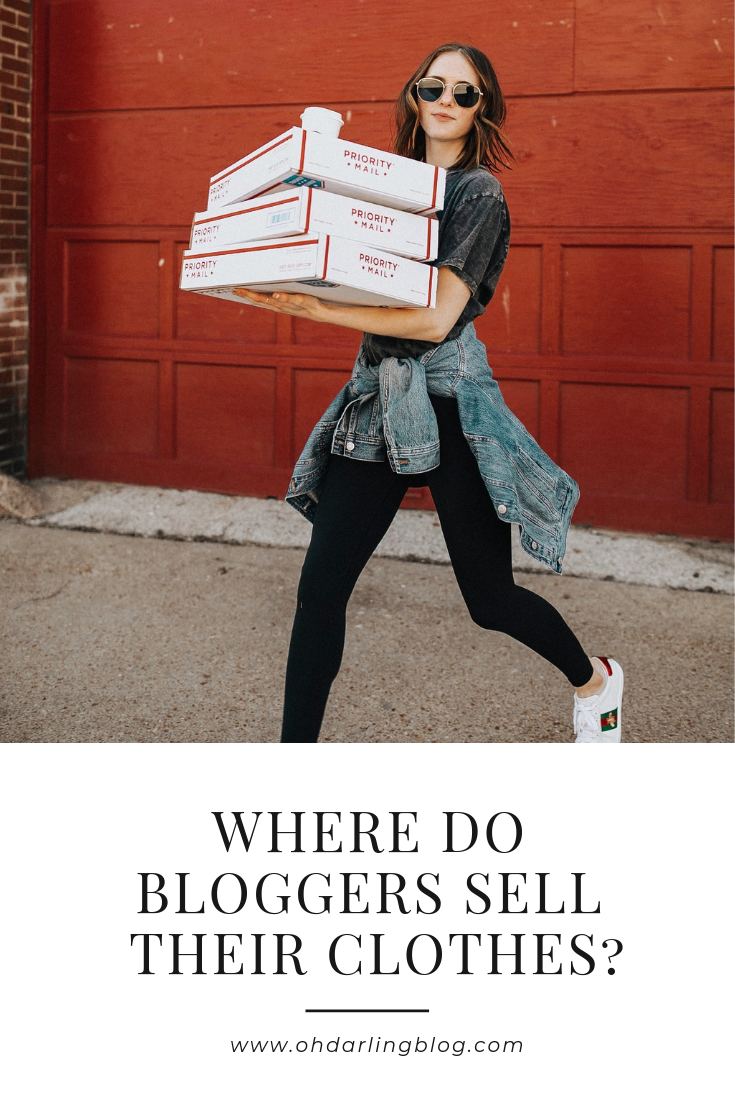 Where Do Bloggers Sell Their Clothes Oh Darling Blog Selling Clothes Online Selling Clothes Fashion