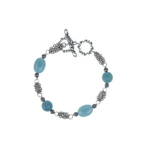 Carolyn Pollack Sterling Silver Wintergreen Bracelet ($71) ❤ liked on Polyvore