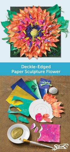 Using basic paper sculpture techniques you too can create your using basic paper sculpture techniques you too can create your own deckle edged paper sculpture flower art lesson plan includes objectives directions mightylinksfo