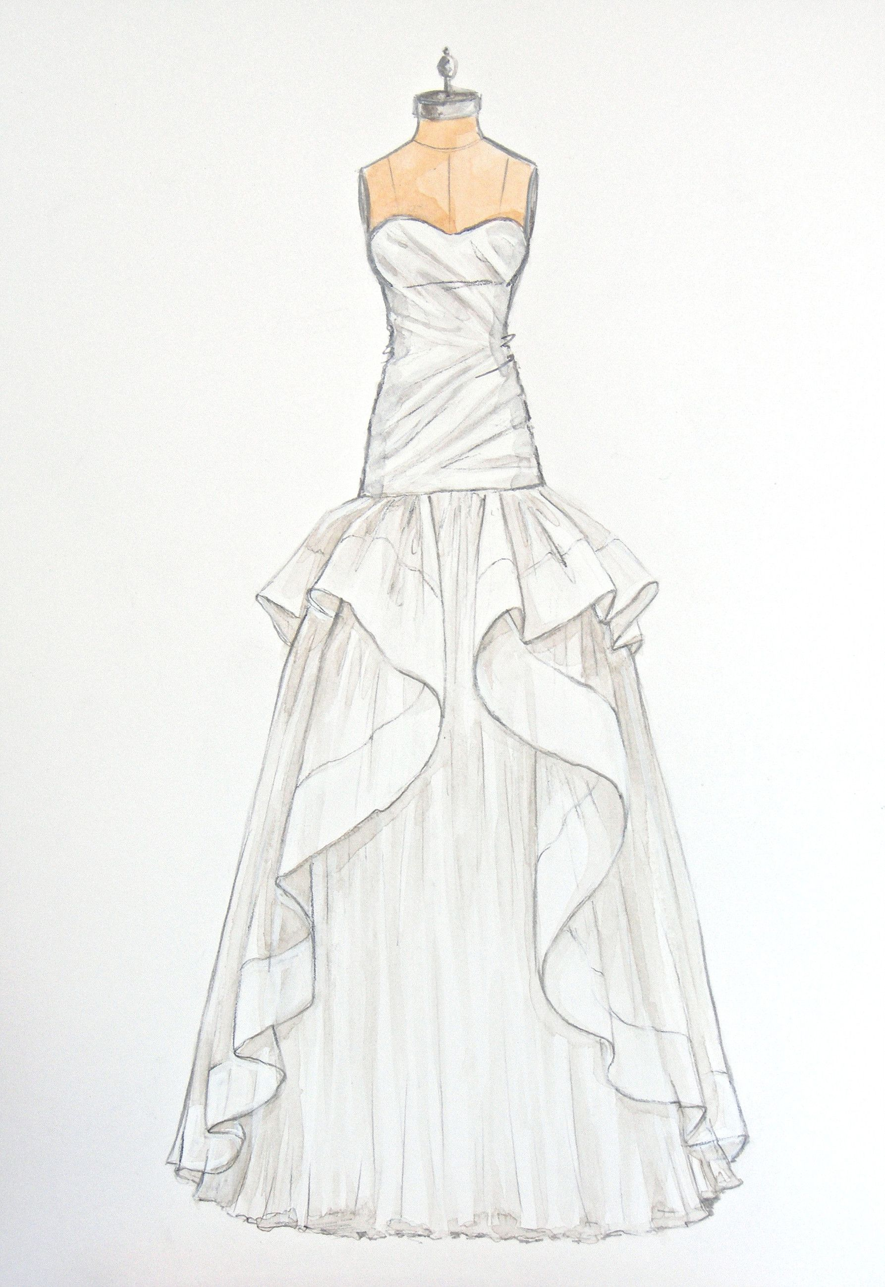 It's just an image of Epic Drawing Of Dress Design