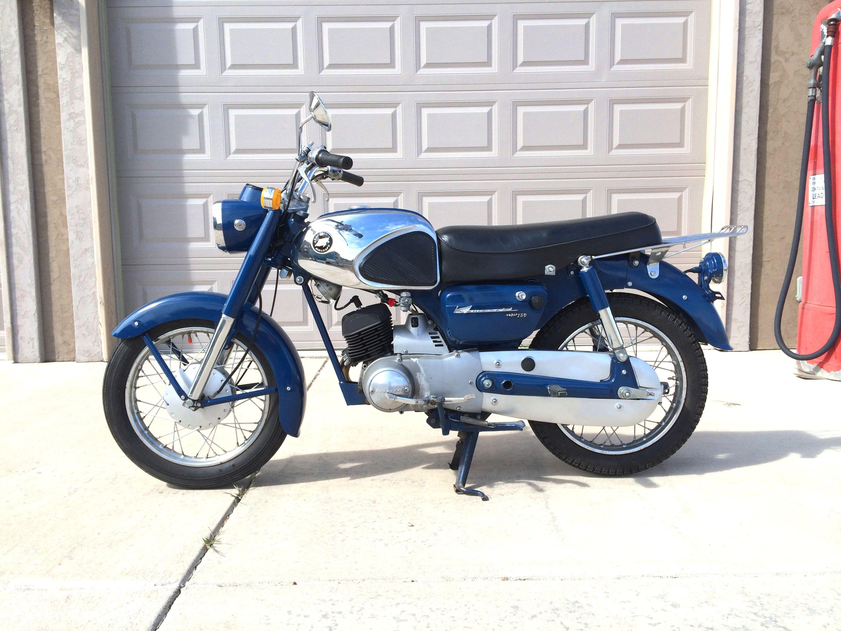 1965 Kawasaki B8s Super 150 150cc Single Cyl W 4spd Rotary Shift Motorcycle Honda Shadow Wiring Diagram Transmission