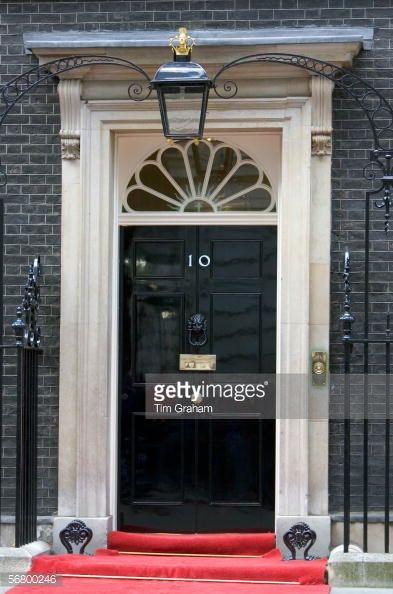 Fanlight and Doorknocker - Number 10 Downing Street the home of the British Prime Minister London United Kingdom