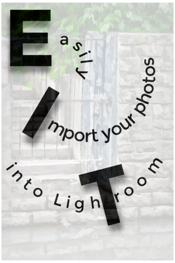Import raw files to lightroom