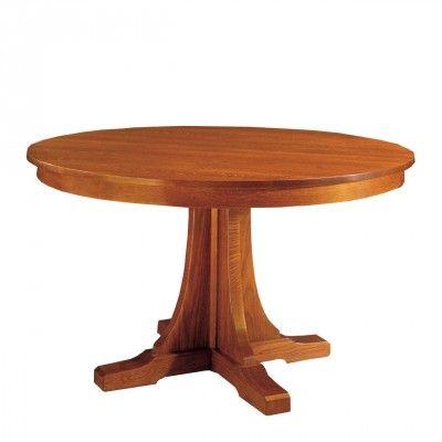 Mission Round Pedestal Table -