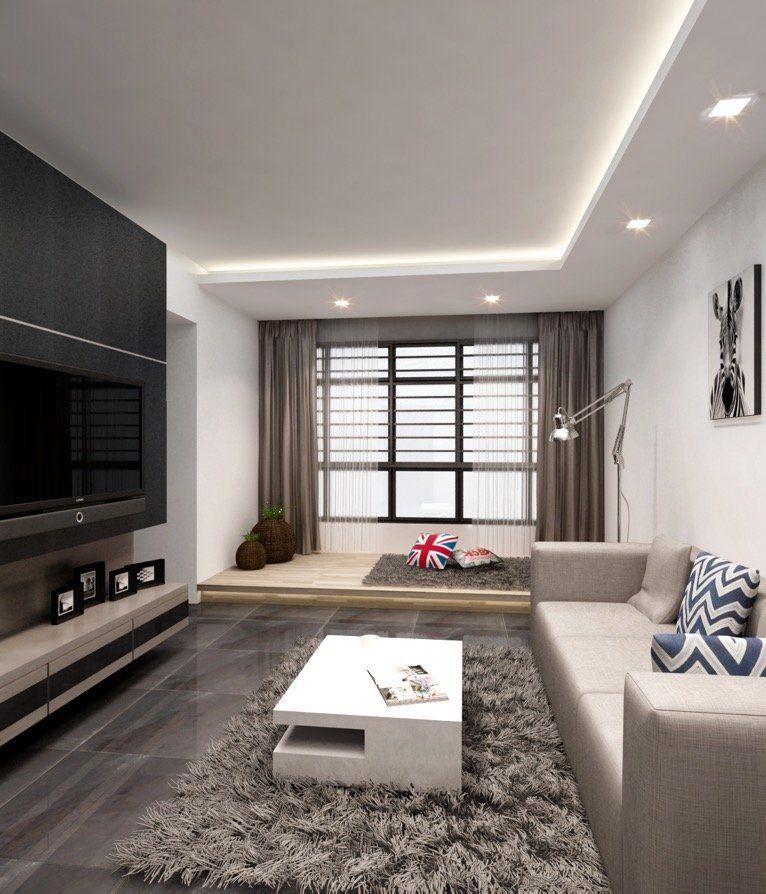 Hdb Bto 4 Room Special Platform At Sengkang Interior Design Singapore Ceiling Design Living Room False Ceiling Living Room Ceiling Design Bedroom