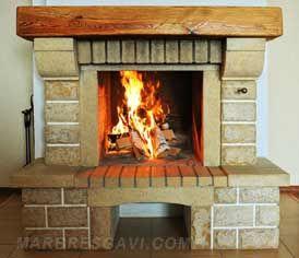 Chimeneas modernas de piedra buscar con google casas - Ver chimeneas rusticas ...