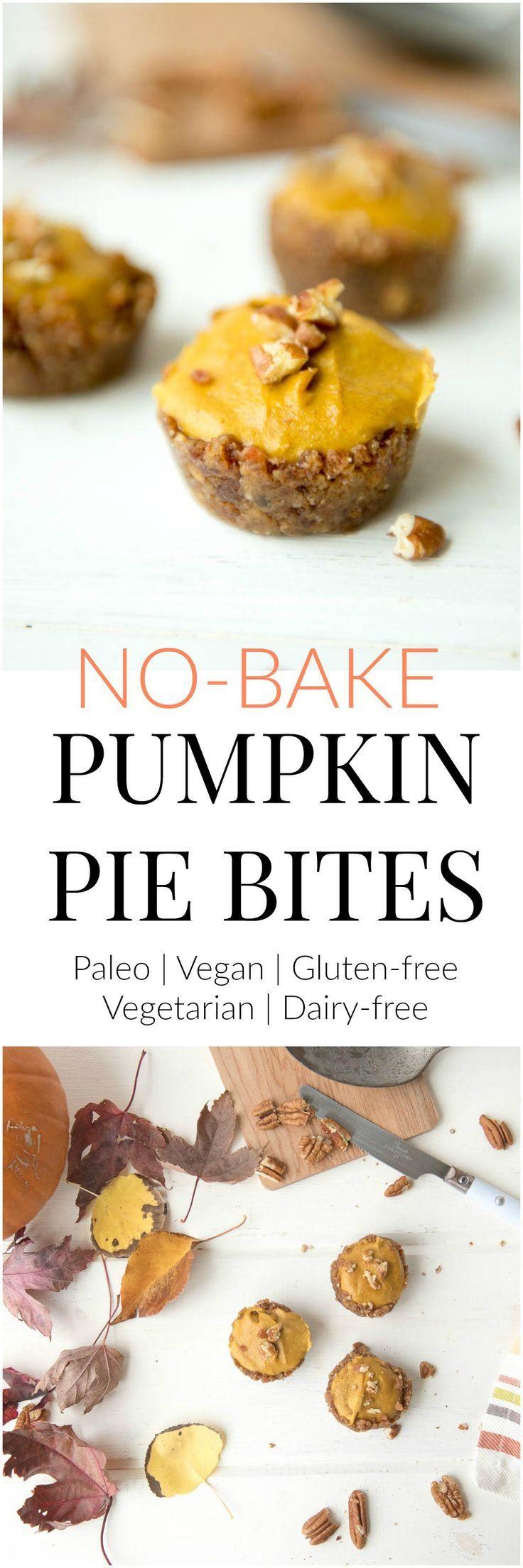 No Bake Pumpkin Pie Bites That Will Make Every Guest Happy Thriving On Paleo Aip Paleo Recipes For Autoimmune Disease Relief Recipe Baked Pumpkin Pie Bites Recipe No