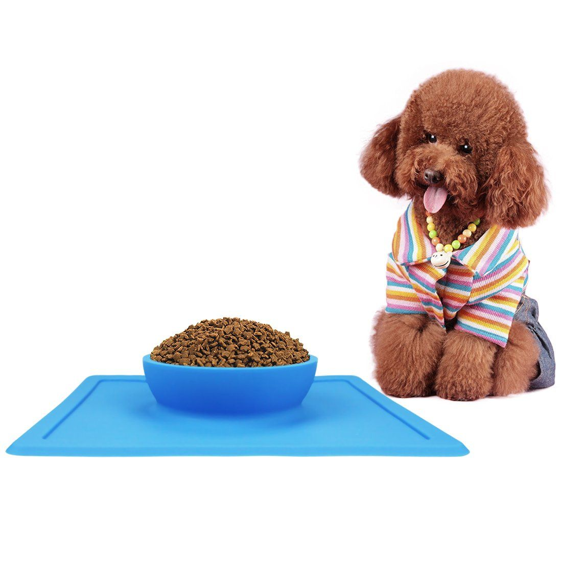 Pantipinky silicone dog cat pet bowls dog feeder with
