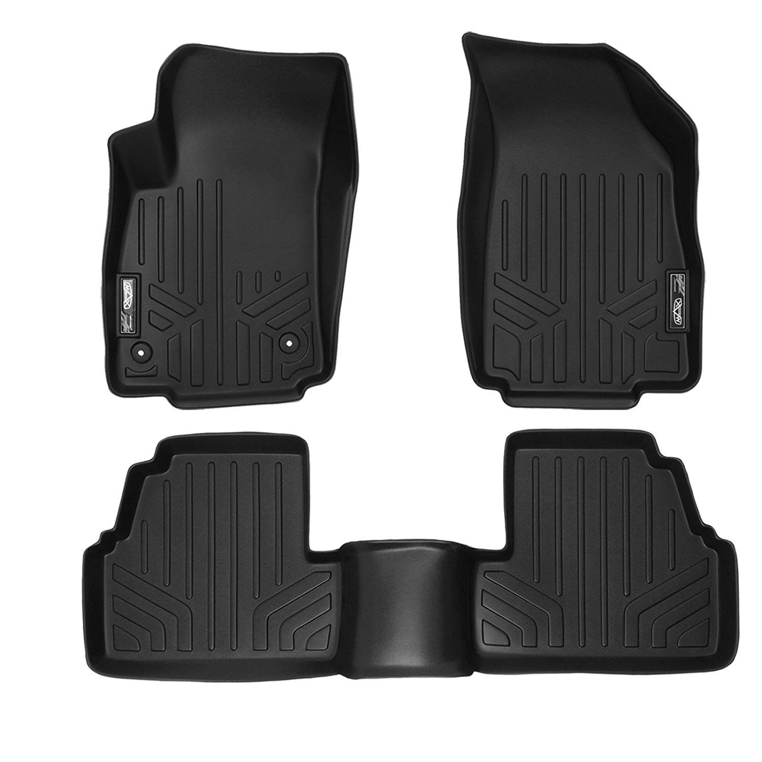 Smartliner Floor Mats 2 Row Liner Set Black For 2013 2018 Buick