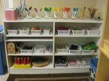 Organization Art Center Preschool Classroom Arrangement Reggio Art Center