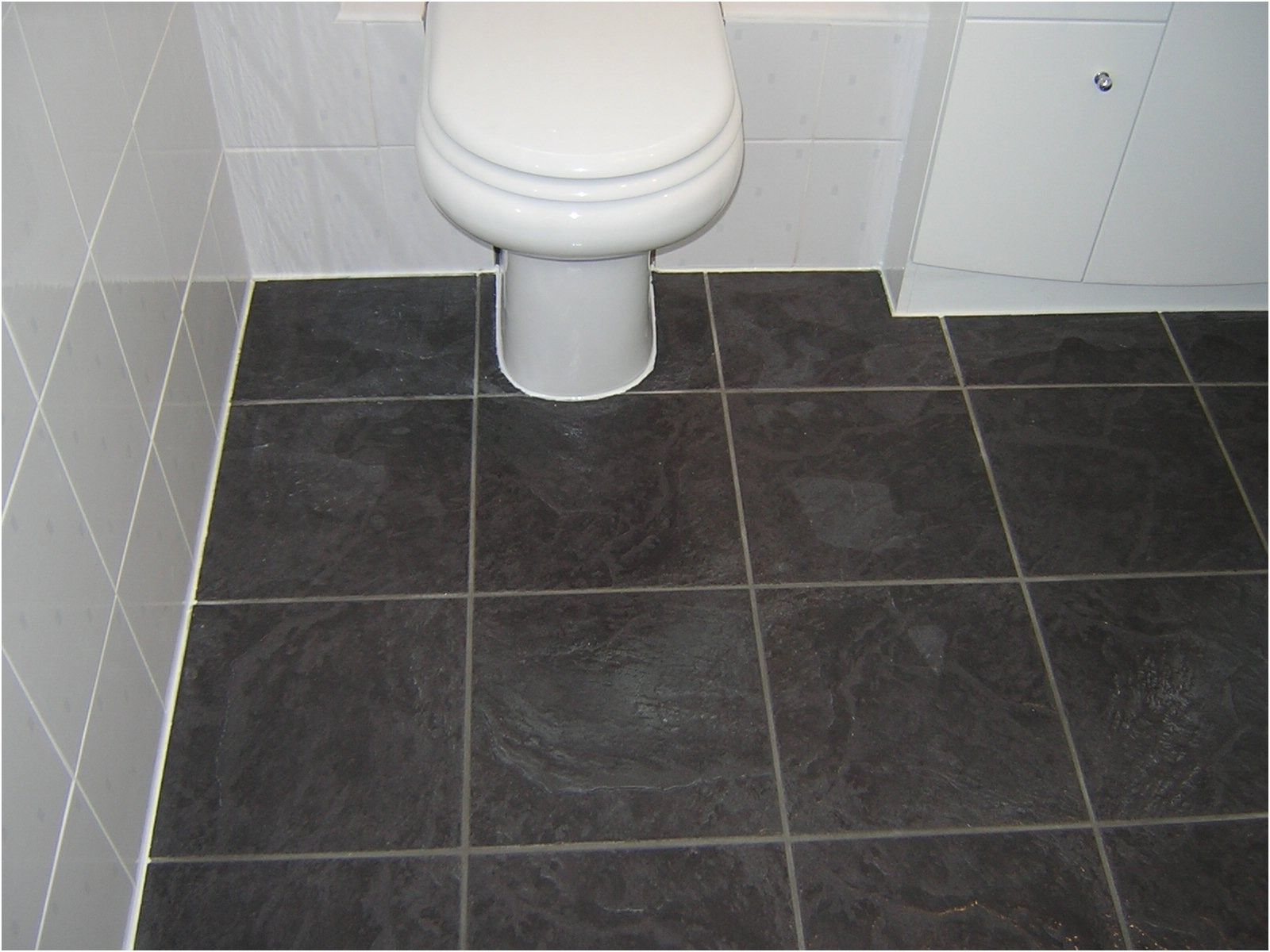 Beautiful Black Laminate Flooring for Bathrooms