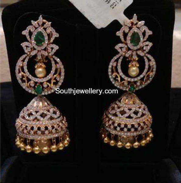 6107caffde20e Diamond Emerald Jhumkis photo   earringssss   Jewelry, Diamond ...