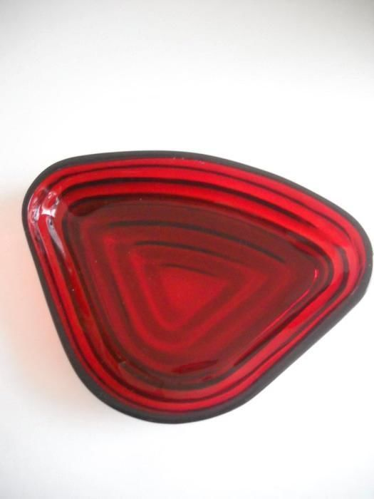 Anchor Hocking Manhattan Ruby Red Relish Insert Dish, EC Throughout