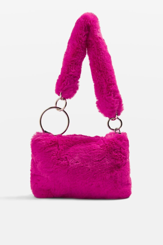 8752adfe90ab TEDDY Faux Fur Shoulder Bag - Bags   Accessories- Topshop Europe