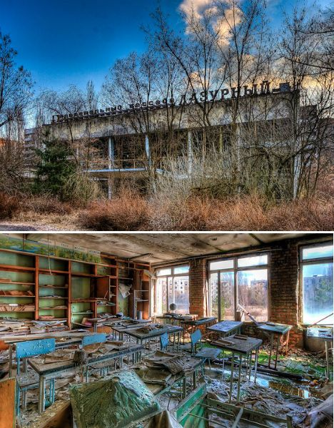 ABANDONED INSTITUTIONAL ARCHITECTURE - Schools of Pripyat