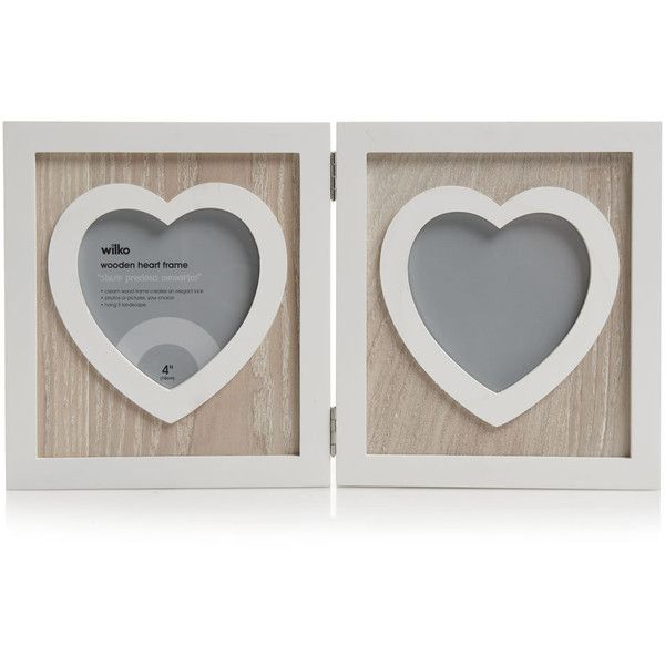 Wilko Wooden Heart Frame 11 Aud Liked On Polyvore Featuring