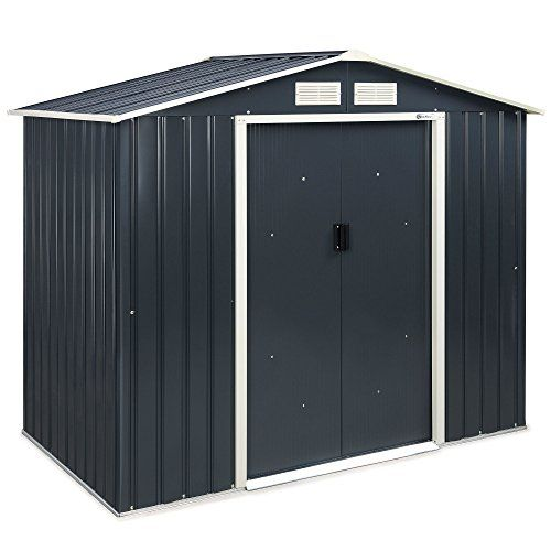 VonHaus Metal Garden Shed U2013 Outdoor Patio Storage Building, Solid Steel  Waterproof Tool/Bike