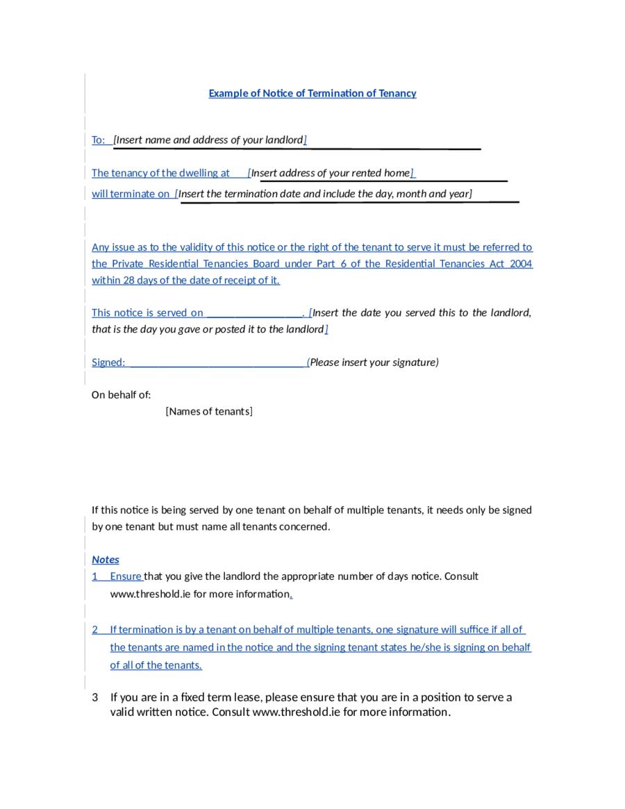Doc Lease Termination Notice Tenant Landlord Letter Sample Template Cover Letter Sample Letter Templates Letter Sample