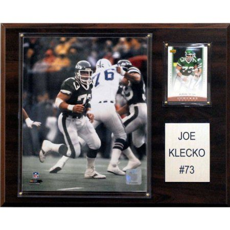 C Collectables NFL 12x15 Joe Klecko New York Jets Player Plaque