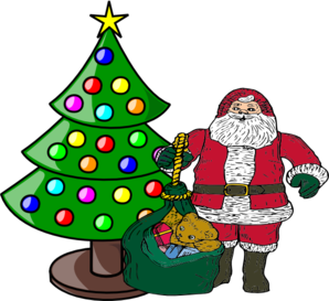 Christmas Tree Star Clip Art Christmas Tree With Santa Claus Clip Art Vector Clip Art Online Christmas Tree Clipart Christmas Tree Star Xmas Tree