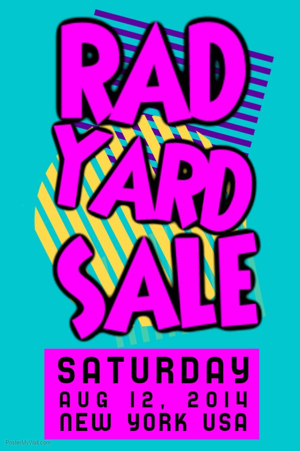 Rad Yard Sale Poster Flyer Social Media Post Template Post