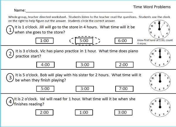 telling time worksheet – streamclean.info