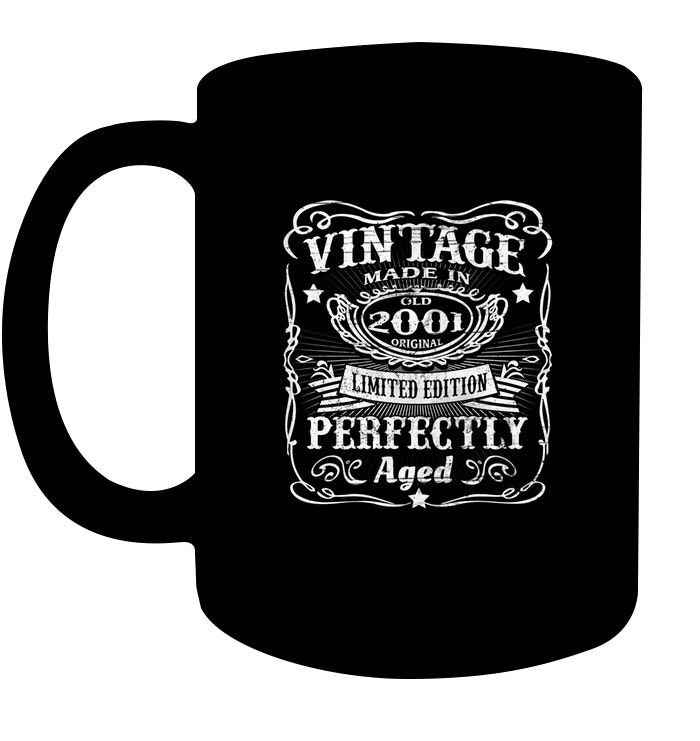 Vintage 2001 Perfectly   17th Birthday 17 Years Old T Shirt Coffee Cups Mugs #17thbirthday