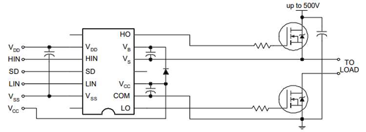 Ir2110 Mosfet Driver Application Circuit Electronic Circuit Design Circuit Design Drivers